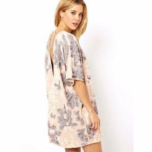 Dresses & Skirts - Low Back Floral Embellished Sequin Dress